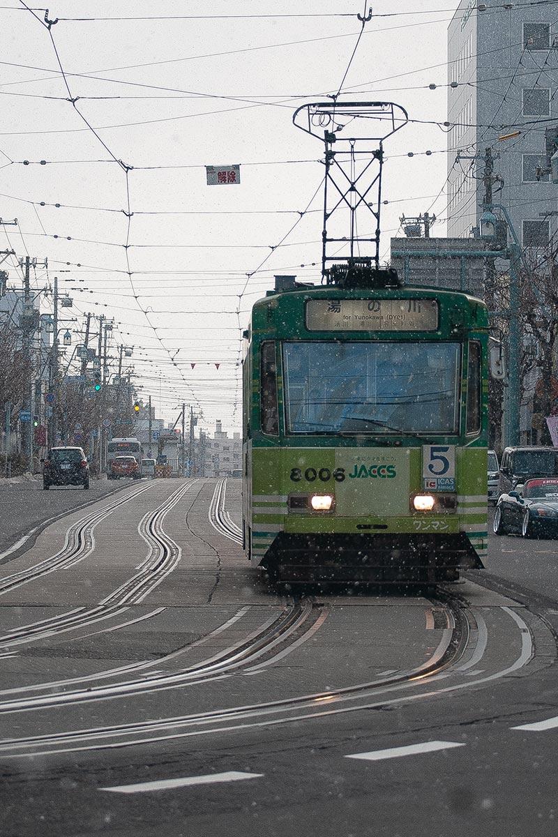 函館五稜郭本町の市電